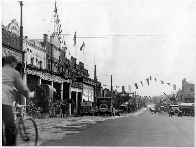 Fitzmaurice Street, Wagga Wagga. c 1920s