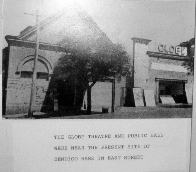 Public Hall Narrandera prior to 1925 when it bunt down.