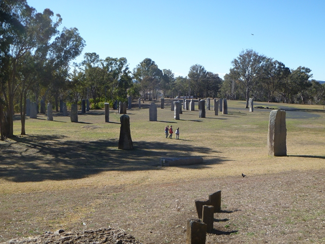 The Australian Standing Stones at Geln Innes NSW 2016.