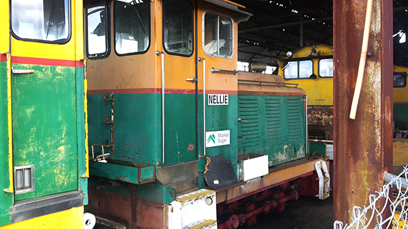 Melba's partner Nellie isan 18 ton Clyde Locomotive  and is now