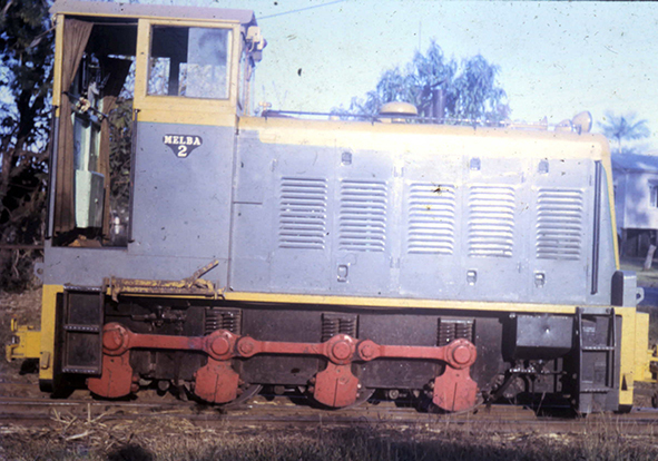 Melba 2  locomotive cane engine at Mackay.