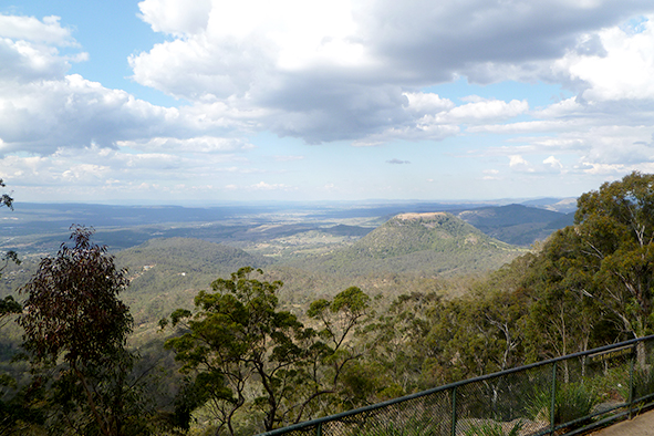 Views across the Great Dividing Range from Picnic Point, Toowoom