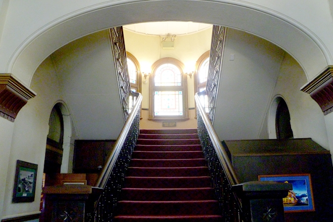 The magnificent staircase of the Criterion Hotel, Rockhampton, 2