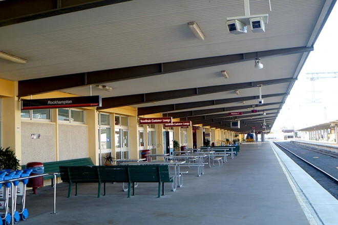 The modern Rockhampton Railway Station designed to cater for cus
