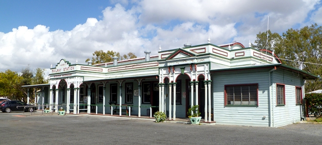 Mount Morgan Railway Station now a museum and visitor informatio